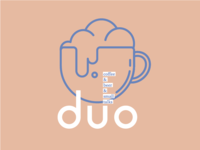 Logo for the DUO. Bar with craft coffee & beer