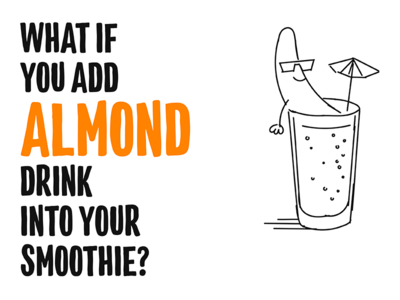 Almond milk motivational poster