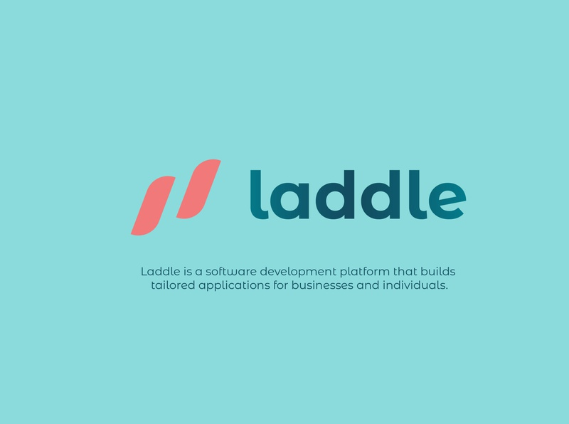 Laddle logo brand identity logo