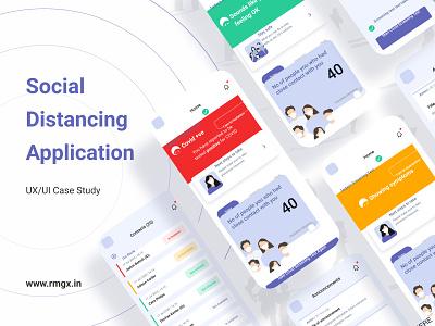 Social Distancing Application creative ux dribble ui rmgx design