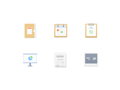 Function Icon 4 condition air news ppt keynote calendar document icon