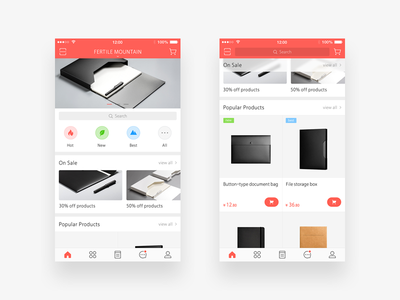Homepage e - commerce,real case icon new hot best business clean flat simple app