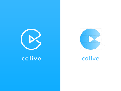 Colive Logo icons icon grid business branding brand logo colive