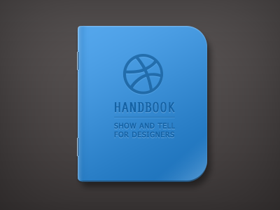 handbook icon fun dribbble handbook bule notebook