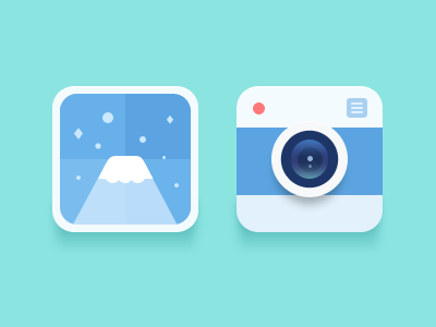 icons-No.2 flat camera photo simple
