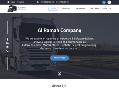 Alramah Home Page for trucks maintenance