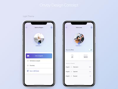 Mobile App Design for Onvoy react native app design mobile ui ui  ux mobile design mobile app