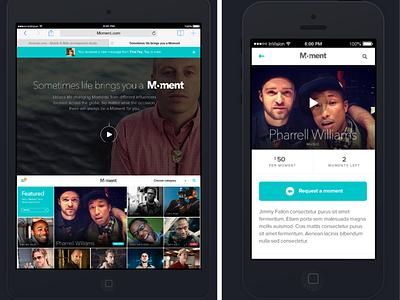 Moment Mobile App Design responsive design mobile app mobile app design mobile design mobile ui ui  ux