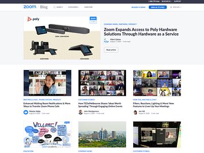 Web Design - Zoom Video Communications Blog design mobile design ui  ux web development web design