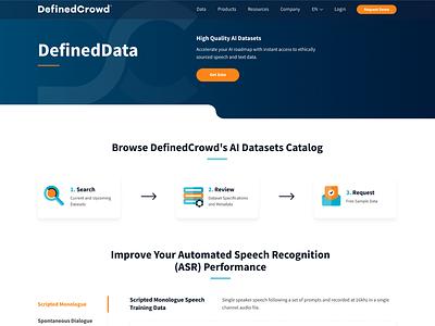 Web Design & Development for Defined Crowd ui web development ui  ux web design