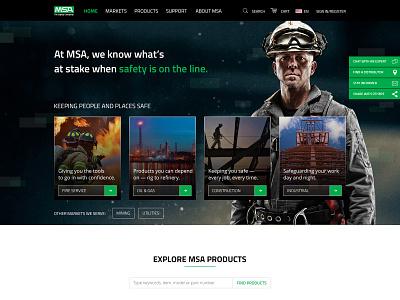 MSA Product Page design