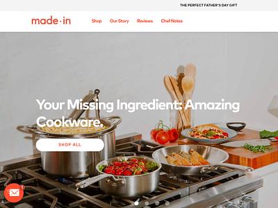 Made In Cookware development ecommerce web design ui  ux