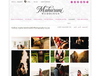 Maharani photography web design development webdesign ui  ux