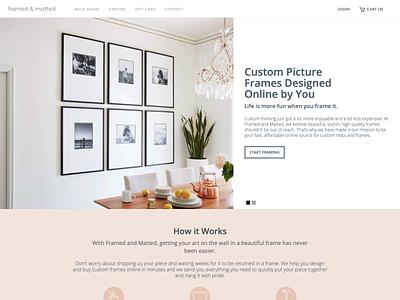 Website for FramedandMatted.com design branding ecommerce web development web design ui  ux