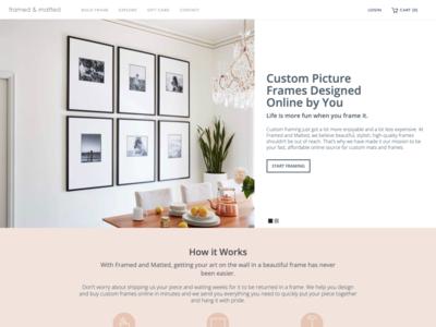 Website for FramedandMatted.com