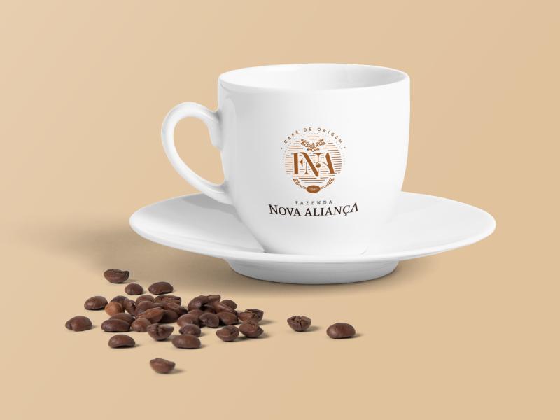 Nova Aliança Identity farm coffee packing logo identity design