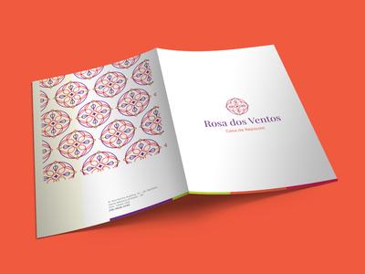 Rosa Dos Ventos Identity folder care nursing retirement rest home logo brand branding identity design