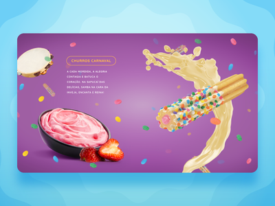 Olha o Churros Product Page churros product page web product catalog site site design website design