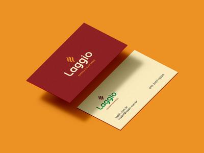 Laggio Business Card brand identity stationary business card branding design