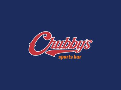 Chubby's Sports Bar Identity sports sport sports bar logo brand branding identity design