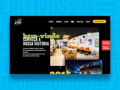 Villa Hamburgueria Website About Page burger website web design