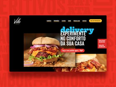Villa Hamburgueria Website Home burger website web design