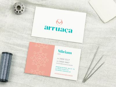 Arruaça Business Card plus size brand fashion business card branding identity design