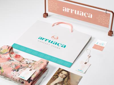 Arruaça Identity clothing plus size fashion logo brand branding identity design