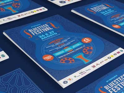 Bluesteco Festival Poster festival poster illustration identity design