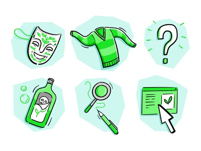 Green icon set digital drawing icon set green drawing doodle vectorart vector illustration illustrator research business industry education environment illustration icons icon greenwashing ecology