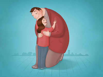 D is for Daughter and Dad happiness hug photoshop vectors 36daysoftype 36days letter love family daughter dad