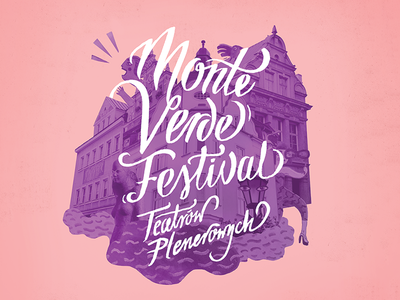 Monte Verde Festival branding teather collage handmadefont festival culture poster typography illustration handlettering lettering