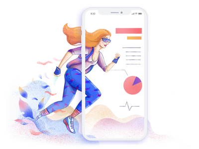 Boost your conversion illustration technology infographic run conversion website app sport smartphone