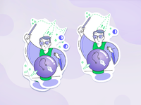 Stickers magician