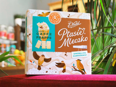 Package illustration for E. Wedel bird company chocolate product design illustrator vector art vectors pattern package design wedel birds illustration food branding package