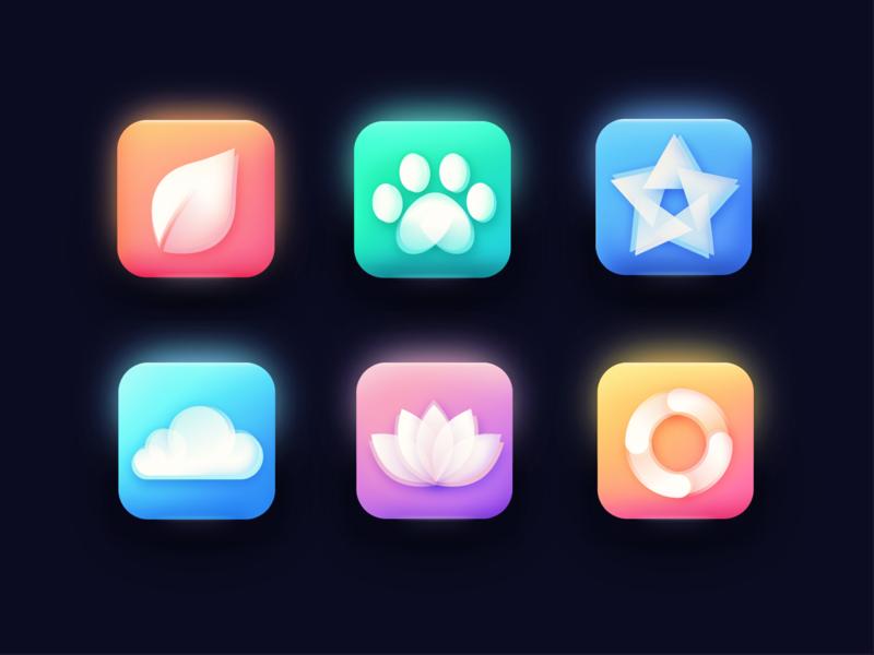 icons lotus loading cloud cute star type mark logo illustration icon branding icons app