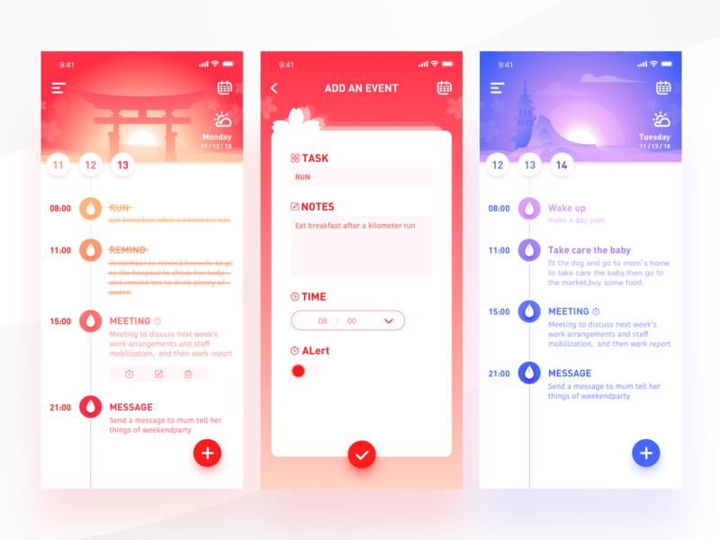 to do list_3 management list mobile task schedule todo list purple pink illustration ui-ux app