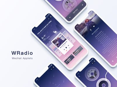 WRadio applets sketch music player ios play radio music applets illustration ui-ux app