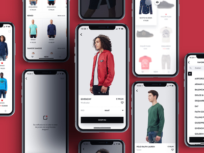 Winkelstraat.nl - New Arrivals app mobile ux ui ios iphone fashion native app e-commerce