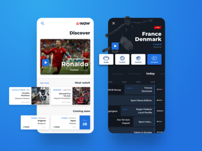 Sport5 - It's game time native app sport concept ux ui mobile iphone ios sports