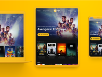 New Pathé Thuis VOD platform Homepage