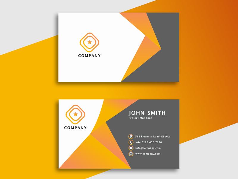 Business Card Concept logo illustrator sketch app minimal inspiration idea colors business card icon branding illustration flat vector ui design
