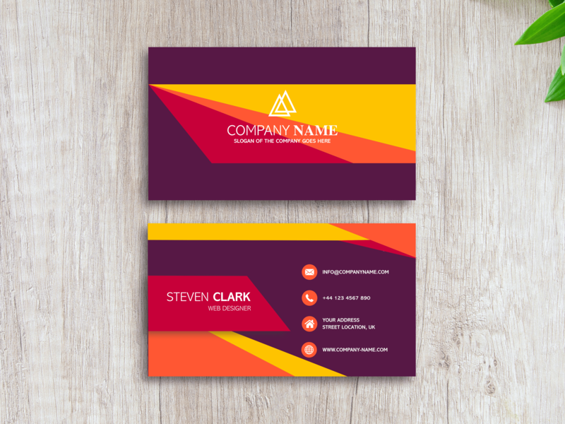 Business Card Concept type lettering sketch app minimal inspiration idea colors business card icon branding logo illustration flat ui vector design