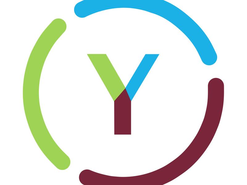 Logo Y Training typography minimal sketch app illustration colors branding logo flat ui vector design