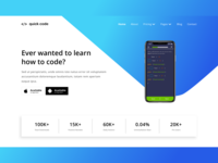 Quick Code Landing Page Concept