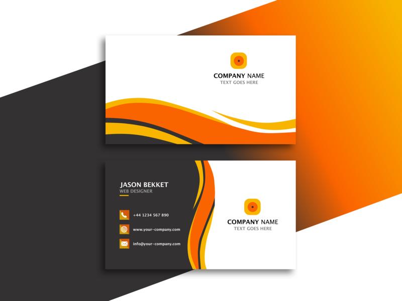 Business Card Concept lettering inspiration business card minimal idea sketch app colors branding logo illustration flat ui vector design