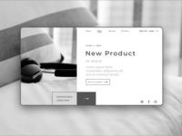 E Commerce New Product Page Concept