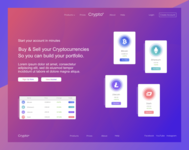 Crypto Landing Page Concept