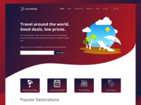 Low Holiday Landing Page Concept Full