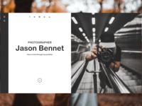 Photography Portfolio Website Concept